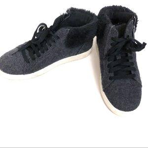 Brash High Top Faux Fur Ankle Street Shoe Sneaker